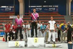 Le podium en senior hommes
