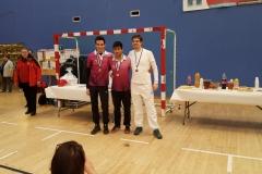 Podium SHCL avec Thomas, Vincent et Florian